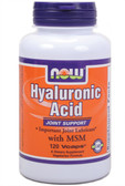 Now Foods Hyaluronic Acid 50 mg MSM 120 Caps, Joints
