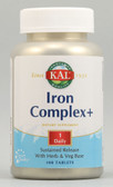 Kal Iron Complex Plus 25 mg 100 Tabs, KAL