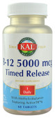 B-12 Timed Release 5000 mcg 60 Tabs, KAL