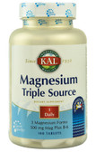 Magnesium Triple Source Sustained Release 500 mg 100 Tabs, KAL