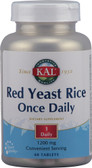Kal Red Yeast Rice Once Daily 1200 mg 60 Tabs, KAL