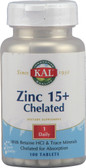 Kal Zinc 15 Plus Chelated 100 Tabs, KAL