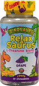Dinosaurs Relax-a-Saurus L-Theanine Blend Grape 30 Chews, KAL