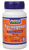 Pycnogenol 30 mg 30 Caps Now Foods, Cardiovascular, Circulation