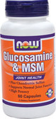 Glucos & M.S.M 750/250MG  60 Caps, Now Foods