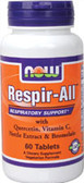 Respir All Allergy 60 Tabs, Now Foods Supplements