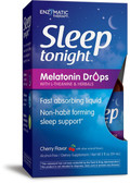 Sleep Tonight Melatonin Drops w/L-Theanine Herbals Cherry 2 oz Enzymatic Therapy