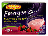 Emergen-Zzzz Nighttime Sleep Aid w/Melatonin Berry PM 24 Pkts, Emergen-C