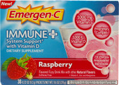 Immune Plus System Support w/Vitamin D Raspberry 30 Pkts, Emergen-C