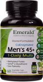 One-A-Day Men's 45 plus Multi Vit-A-Min 60 Vegetable Caps, Emerald Labs
