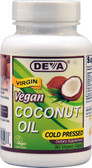 Vegan Virgin Coconut Oil 90 Vegan Caps, Deva