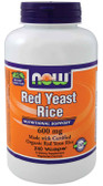 Red Yeast Rice Extract 600 mg 240 Vcaps, Now Foods, Certified Organic