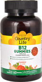 B12 Gummies Strawberry 850 mcg 60 Gummies, Country Life