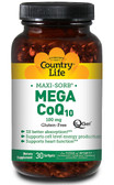 CoQ-10 Mega Q-Gel 100 mg 30 sGels, Country Life