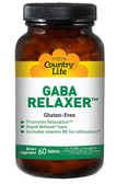 GABA Relaxer 60 Tabs, Country Life