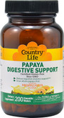 Papaya Digestive Support Pineapple Papaya 200 Wafers, Country Life