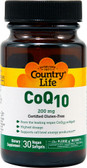 CoQ10 200 mg 30 Vegan sGels, Country Life