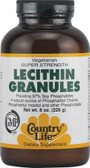 Lecithin Granules 8 oz, Country Life