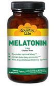 Melatonin 1 mg 60 Tabs, Country Life