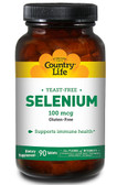 Selenium No Yeast 100 mcg 90 Tabs, Country Life