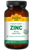 Zinc Target-Mins 50 mg 90 Tabs, Country Life
