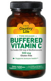 Buffered Vitamin C 500 mg 100 Tabs, Country Life