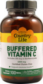 Buffered Vitamin C 1000 mg 100 Tabs, Country Life
