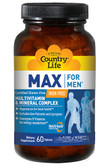 Max For Men Multivitamin & Mineral 60 Tabs, Country Life