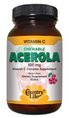 Chewable Acerola Vitamin C Complex Berry 500 mg 180 Wafers, Country Life