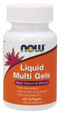 Liquid Multi Gels 60 Softgels, Now Foods Vitamins