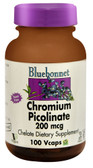 Chromium Picolinate 200 mcg 100 Vcaps, Bluebonnet Nutrition