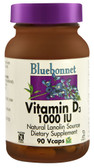 Vitamin D3 1000 IU 90 Vegetable Caps, Bluebonnet Nutrition