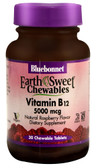 EarthSweet Chews Vitamin B12 Raspberry 5000 mcg 30 Chews, Bluebonnet Nutrition