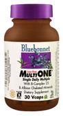 MultiONE Single Daily Multiple No Iron 30 Vcaps, Bluebonnet Nutrition