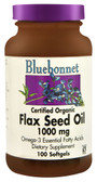 Flax Seed Oil 1000 mg 100 sGels, Bluebonnet Nutrition