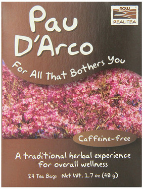 Pau D'Arco 24 Tea Bags, Now Foods, Herbal Wellness Tea