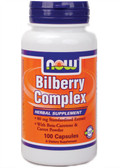 Bilberry Complex 80 mg 100 Caps, Now Foods, Eyes