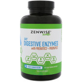 Daily Digestive Enzymes with Prebiotics + Probiotics, 180 Vegetarian Caps Zenwise