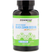 Organic Black Cumin Seed Oil with BioPerine 120 Softgels, Zenwise
