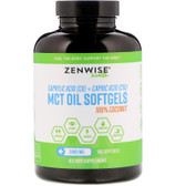 100% Coconut MCT Oil, 3000 mg, 180 Softgels Zenwise
