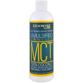 MCT Oil, 100% Coconut Emulsified Vanilla 12 fl oz (355 ml) Zenwise