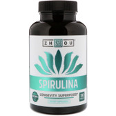 Spirulina Longevity Superfood 180 Tabs, Zhou Nutrition