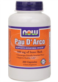 Pau D' Arco 500 mg 250 Caps Now Foods, Intestinal