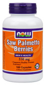 Saw Palmetto 550 mg 100 Caps Now Foods, Prostate Function