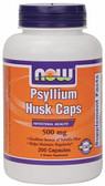 Psyllium Husk 500 mg 200 Caps Now Foods, Regularity
