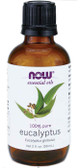 100% Pure Eucalyptus Oil 2 oz, Now Foods, Revitalizing & Invigorating