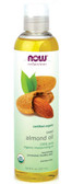 Now Foods Pure Organic Sweet Almond Oil 8 oz, Massage Oil