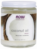 Coconut Oil Pure 7 oz Now Foods, Skin & Hair Moisturizer
