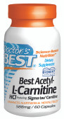 Doctor's Best Acetyl-L-Carnitine 588 mg 60 Caps