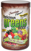 Greens World  Inc Delicious Greens 8000 Chocolate Flavor 10.6 oz